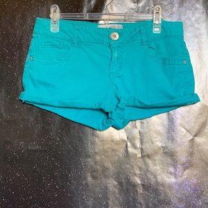 Jolt- Turquoise Denim Shorts size 9